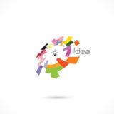 Creative circle abstract vector logo design template. Corporate business technology creative logotype symbol.Vector illustration stock illustration