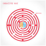 Creative circle maze way concept Royalty Free Stock Image