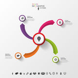 Creative circles with arrows for infographic. Vector Royalty Free Stock Photos