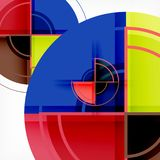 Creative circles geometric abstract background with 3d effect. Vector trendy template vector illustration