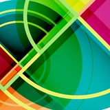 Creative circles geometric abstract background with 3d effect. Vector trendy template Royalty Free Illustration
