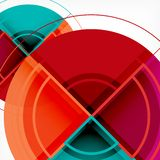 Creative circles geometric abstract background with 3d effect. Vector trendy template Stock Illustration