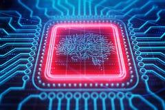 Artificial intelligence backdrop royalty free illustration