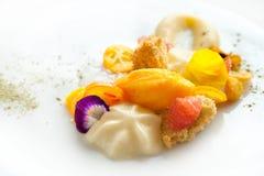 Creative citrus fruit dessert. Royalty Free Stock Photo