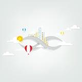 Creative city panorama Stock Photos