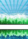 Creative city theme background Stock Photo