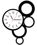 Creative clock face design. Creative clock face circle design Royalty Free Stock Image