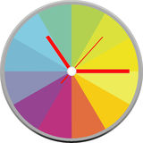 Creative clock face design. Creative clock face circle design vector illustration