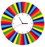 Creative clock face design. Creative clock face colorful design Royalty Free Stock Photos