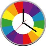 Creative clock face design. Stock Photo