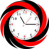 Creative clock face design. Creative clock face colorful design stock illustration