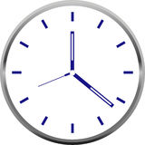 Creative clock face design. Creative clock face colorful design royalty free illustration