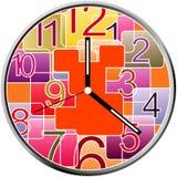 Creative clock face design. Creative clock face colorful design Stock Photography