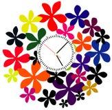 Creative clock face design. royalty free illustration
