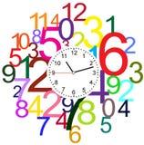 Creative clock face design. Creative clock face number design Royalty Free Stock Photos
