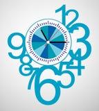 Creative clock face design. Creative clock face number design Royalty Free Stock Images