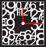 Creative clock face design. Creative clock face number design stock illustration