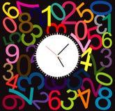 Creative clock face design. Creative clock face number design Stock Photos