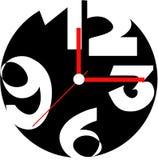 Creative clock face design. vector illustration