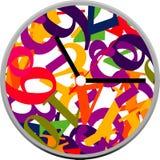 Creative clock face design. Creative clock face number design Royalty Free Stock Photography