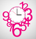 Creative clock face design. Creative clock face number design royalty free illustration