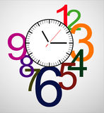 Creative clock face design. Stock Images