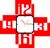 Creative clock face design. Creative clock face number design Stock Photo