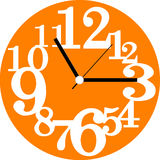 Creative clock face design. Stock Image