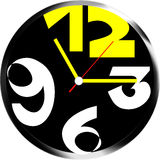 Creative clock face design. Creative clock face numberl design royalty free illustration