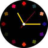 Creative clock face  design. Royalty Free Stock Image