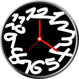 Creative clock face design. Royalty Free Stock Images