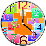 Creative clock face design. Stock Photo