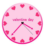 Creative clock heart design. Stock Photos