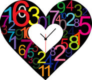 Creative clock heart design. Royalty Free Stock Photography