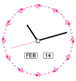 Creative clock heart design. Stock Image