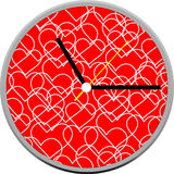 Creative clock heart design. Stock Photography