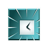 Creative clock icon Royalty Free Stock Photos