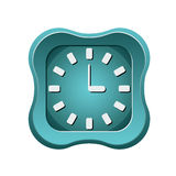 Creative clock icon Stock Photo