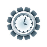 Creative clock icon Stock Images