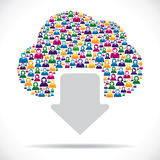 Creative cloud computing concept Royalty Free Stock Photos