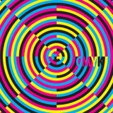 Creative CMYK. CMYK, moire effect, vector illustration vector illustration