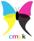 Creative Cmyk butterfly Stock Photography