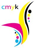 Creative Cmyk design Royalty Free Stock Photography