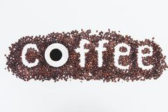 Creative coffee wallpaper. Design. addiction, energy and lifestyle concept stock image