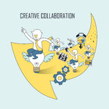Creative collaboration concept Royalty Free Stock Images