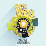 Creative collaboration concept Stock Photography