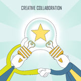 Creative collaboration concept Royalty Free Stock Photos