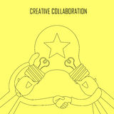 Creative collaboration concept Royalty Free Stock Image