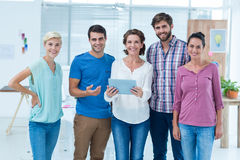 Creative colleagues with digital tablet Royalty Free Stock Images