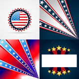 Creative collection of american independence day background. Vector creative collection of american independence day background illustration with space for your Royalty Free Stock Photography
